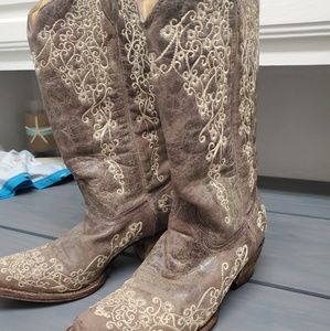 Corral ladies Crater Embroidered Cowgirl Boots 8.5